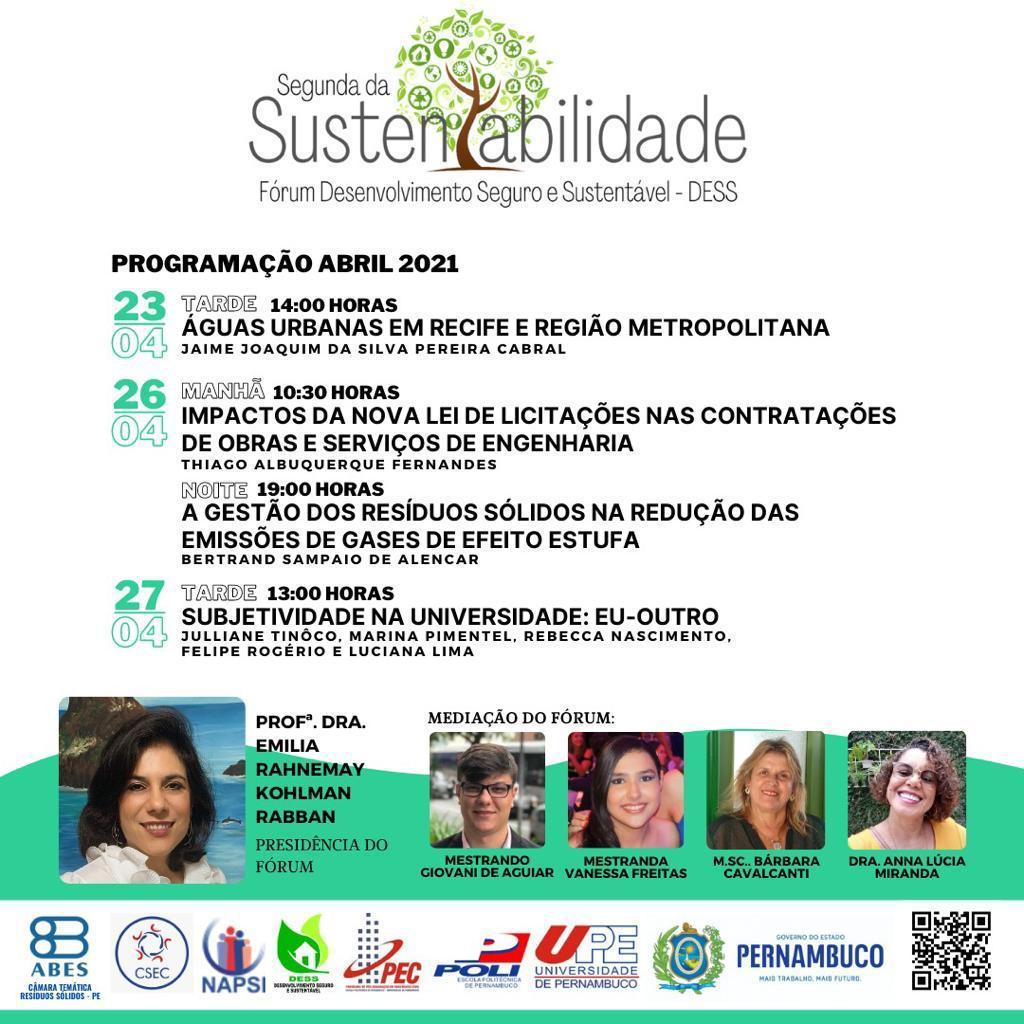 Fórum Desenvolvimento Seguro e Sustentável – DESS – Abril 2021